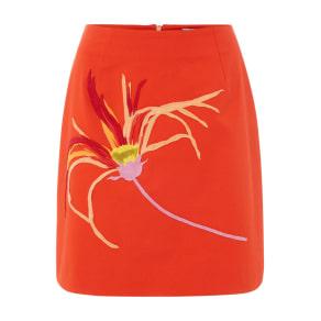 Sportmax Code Osmunda Florwer a Line Skirt, Orange