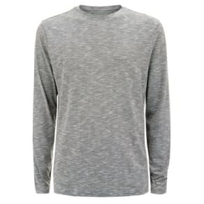 Grey Textured Long Sleeve T-Shirt New Look