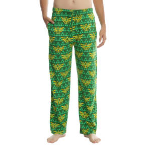 The Legend Of Zelda Dark Green & Gold Triforce Guys Pajama Pants