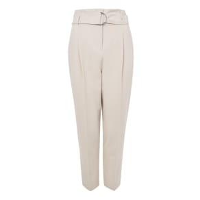 Womens Belt Paper Waist Peg Trousers