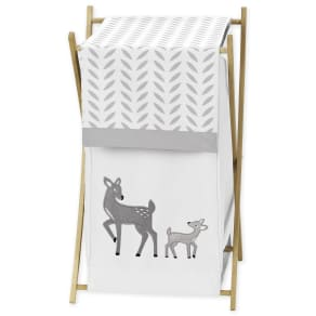 Sweet Jojo Designs Laundry Hamper for the Forest Deer Collection By, Multi-Colored