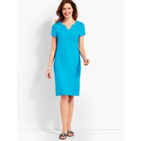 Talbots: Short Sleeve Interlock Shift Dress