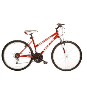 Titan Pathfinder Ladies Mountain Bicycle, Red/White