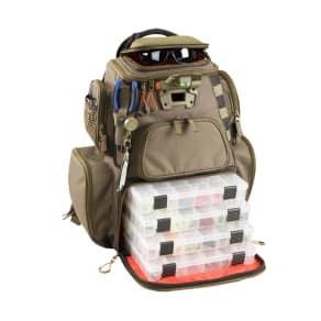 Wild River Tackle Tek Nomad Lighted Backpack 4 Trays, Beige & Tan