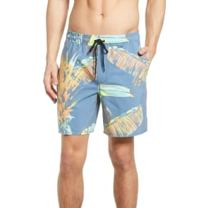 Men's Hurley Paradise Volley Board Shorts, Size Small - Blue