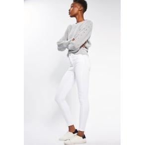 Womens Moto White Jamie Jeans