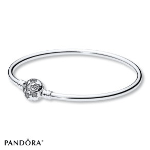 "Pandora 7.5"" Bangle Unique Snowflake Limited Ed Sterling Silver- Gift Sets"