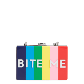 Milly Bite Me Box Clutch - Metallic