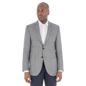 J by Jasper Conran Grey Textured Pure Linen Tailored Fit Jacket