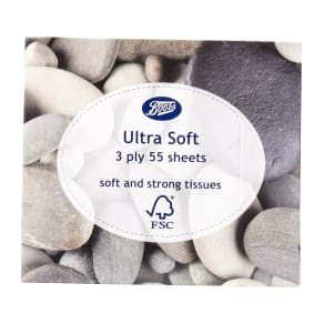 Boots Ultra Soft Tissues Cube Pebble