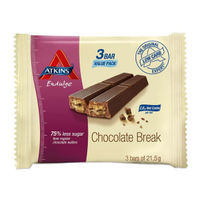 Atkins Endulge Chocolate Break Value Pack 3 X 21.5g
