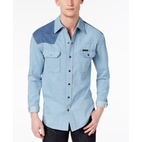 Calvin Klein Jeans Men's Colorblocked Western Shirt