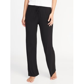 Old Navy Womens Jersey-Knit Lounge Pants For Women Black -