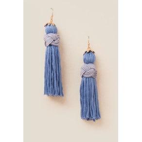 Grace Tassel Earrings - Blue