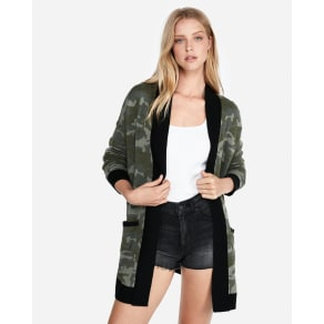 Express Womens Camo Cover-Up