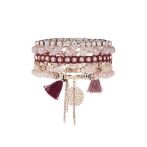 Accessorize Accessorize Arabella Lux Bracelet Pack, Pink