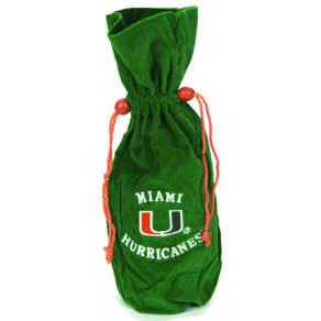 Scottish Christmas Miami Hurricanes Velvet Bottle Bag