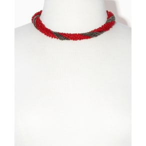 Scarlet Crochet Collar Necklace