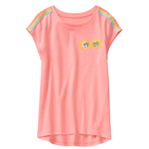 Girl's Lookin' Good Tee by Gymboree - Size Xs - Coral - Coral