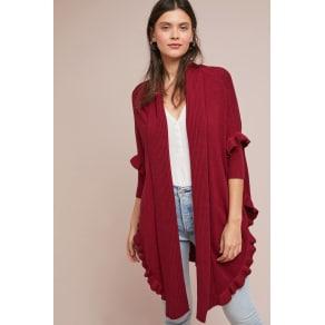 Ruffled Longline Kimono