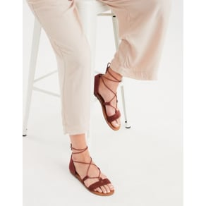 Ae Corduroy Lace Up Sandal