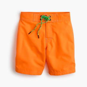 Boys' Board Short in Bright Orange