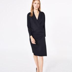 Silk Wrap Dress - Black