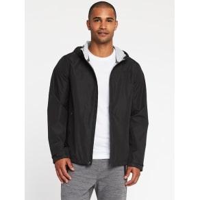 Old Navy Go H2O Max Hooded Rain Jacket For Men - Black