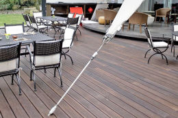 Bamboo X-Treme Ribbed Hardwood Decking Boards Using Hidden Fixing 18mm By 137mm By 1850mm