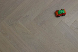 Prime Engineered Flooring Oak Herringbone Sunny White Brushed UV Oiled 14/3mm By 97mm By 582mm