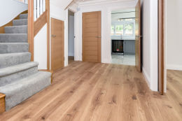 Natural Engineered Flooring Oak Matt Lacquered 20/5mm By 220mm By 1800-2400mm