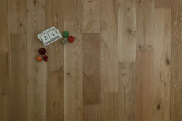 Natural Engineered Flooring Oak Brushed UV Oiled 15/4mm By 220mm By 1500-2200mm