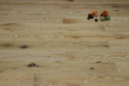 Natural Engineered Flooring Oak White Washed Brushed UV Lacquered 20/5mm By 180mm By 1900mm