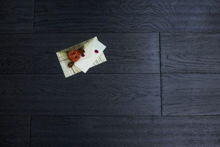 Natural Engineered Flooring Oak Reclaim Black Brushed UV Oiled 14/3mm By 190mm By 400-1500mm