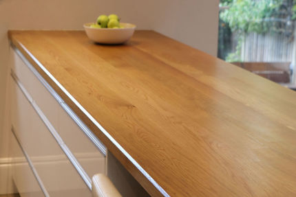Full Stave Select Oak Worktop Elite 38mm By 620mm By 3850mm
