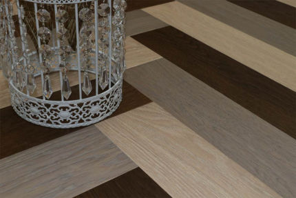 Prime Engineered Flooring Oak Herringbone Design Brushed UV Oiled 14/3mm By 97mm By 582mm