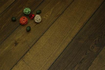 Natural Engineered Flooring Oak Reclaim Brown Brushed UV Oiled 14/3mm By 190mm By 1900mm