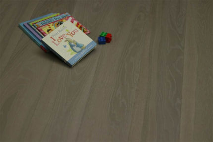 Select Engineered Flooring Oak Click White Grey Brushed UV Oiled 14/3mm By 190mm By 1900mm