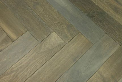 Natural Engineered Flooring Oak Herringbone Cemento Hardwax Oiled 16/4mm By 120mm By 580mm