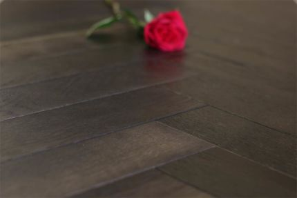 Natural Engineered Oak Herringbone Dark Affocato UV Oiled 15/4mm By 90mm By 630mm