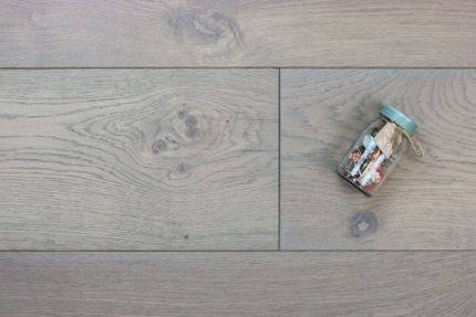 Natural Engineered Flooring Oak Click Spring Grey UV Oiled 14/3mm By 190mm By 400-1500mm