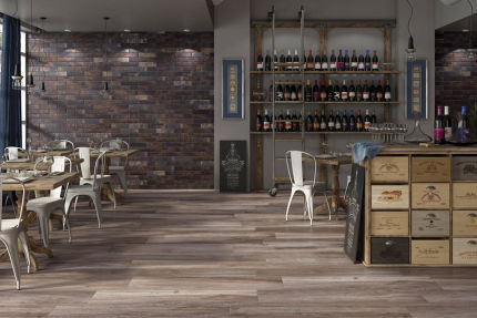 Porcelain Stoneware Madeira Brown 300mm By 1200mm