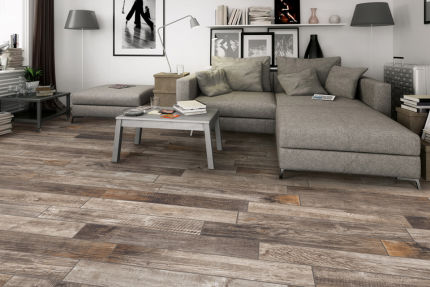 Porcelain Stoneware Madeira Dark Grey 150mm By 1000mm
