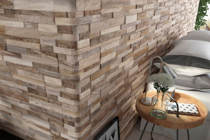 Porcelain Stoneware Wall Art Almond 150mm By 610mm