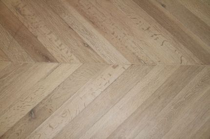 Prime Engineered Flooring Oak Chevron Brushed White Oiled Two 18/5mm By 90mm By 850mm
