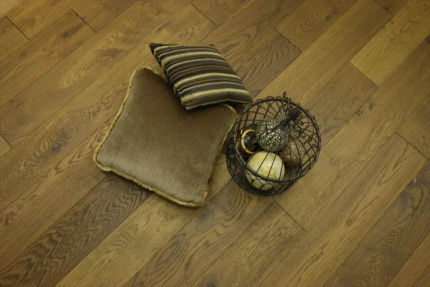 Rustic Engineered Flooring Oak Smoked Brushed UV Oiled 10/3mm By 125mm By 600-1900mm