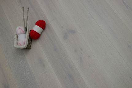 Select Engineered Flooring Oak Click Double White Brushed UV Lacquered 14/3mm By 190mm By 1860mm