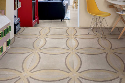 Porcelain Tiles Neptuno Decori Light Almond 600mm By 600mm