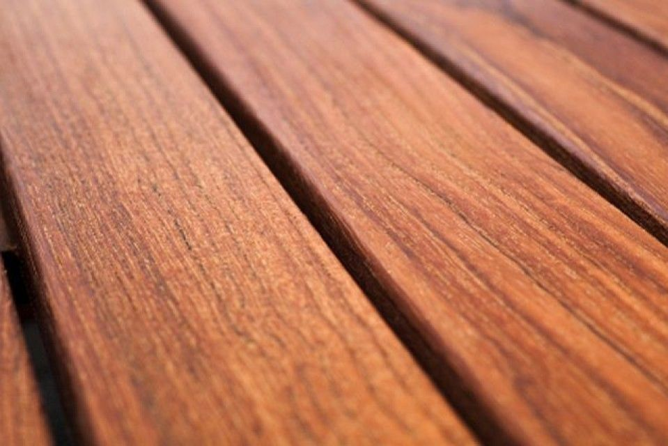 Teak hardwood decking boards using hidden fixing 20mm by for Hardwood timber decking boards
