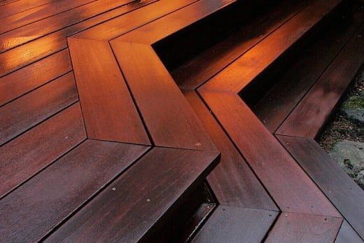 Red Balau Hardwood Decking Boards 19mm By 140mm By 3352-3657mm